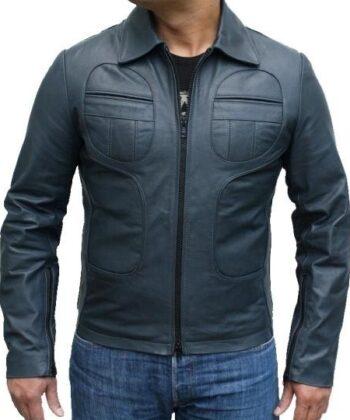 mens biker leather jacket